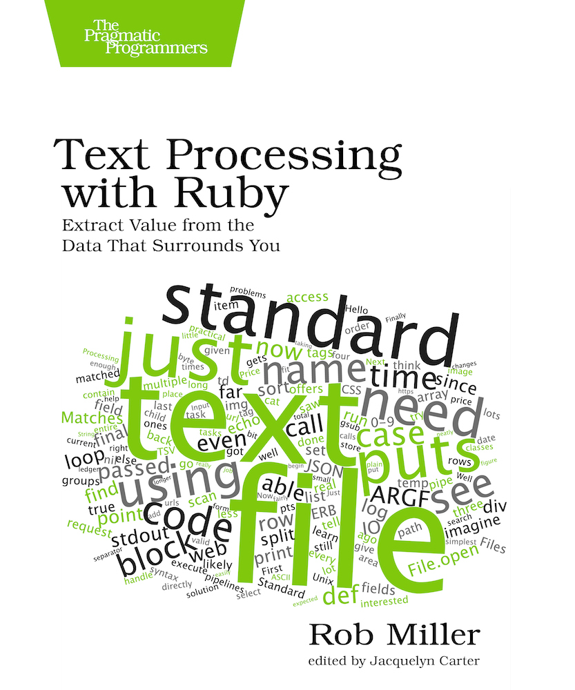 Book cover of Text Processing with Ruby